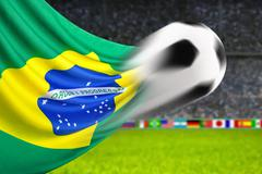 Football brazil Stock Illustration
