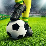 Brazilian soccer player's feet Stock Illustration