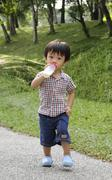 Stock Photo of boy walking