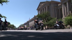 Numerous motorcycles pass by Library of Congress - stock footage