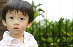 Stock Photo of curious boy