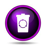 recycle bin icon - stock illustration
