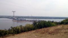 Panorama of the city Balakovo Stock Footage