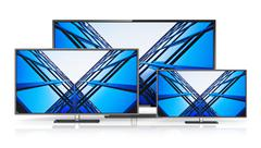 Set of widescreen TV displays Stock Illustration