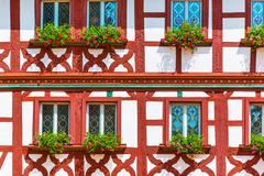Half-timbered building - stock photo