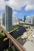 Brickell and Miami River Stock Photos