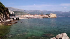 the coastline, the sea coast of the adriatic, .landscape with views of the resor - stock footage