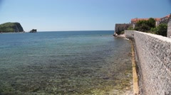 the coastline, the sea coast of the adriatic, landscape with views of the res - stock footage