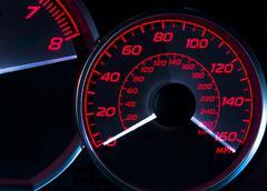 Speedometer - stock photo