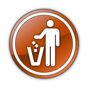 Stock Illustration of icon, button, pictogram litter container