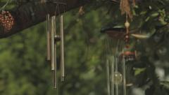 Tilting Shot to Windchimes Stock Footage