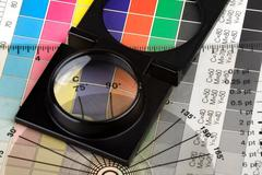 printing color management - stock photo