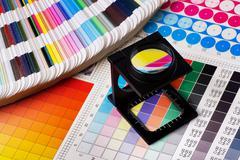 Color management set Stock Photos