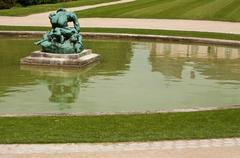 Statue  in rodin museum in paris Stock Photos