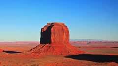 Sunset at the Monument Valley National Monument, Navajo Tribal Park, Utah Stock Footage