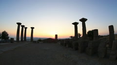 Ancient city of Assos Stock Footage