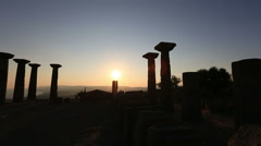 ancient city of Assos - stock footage