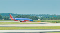 Southwest Airlines Airliner on Taxiway in Atlanta - stock footage