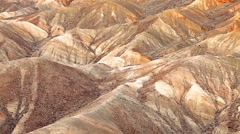 Zabriskie Point, Death Valley, California, USA Stock Footage