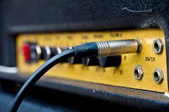 Close up image of guitar amplifier Stock Photos