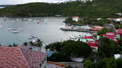 view from balcony in early morning, virgin islands early in the morning - stock footage