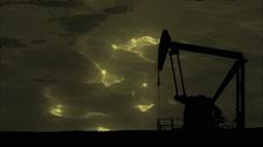 Stock Video Footage of Diesel Fuel Gas Petrol Pump and Oil