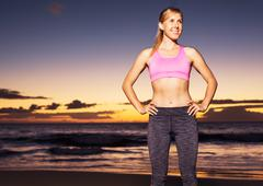 athletic fitness woman - stock photo