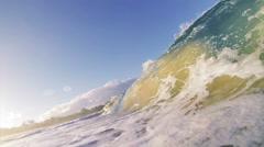 Sandy ocean wave Stock Footage
