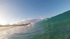 blue ocean wave - stock footage