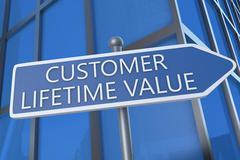 Stock Illustration of customer lifetime value