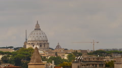 Amazing light on St Peters dome timelapse 4K Stock Footage
