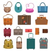 Stock Illustration of Bags colored icons set