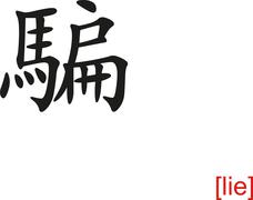 Chinese Sign for lie Stock Illustration
