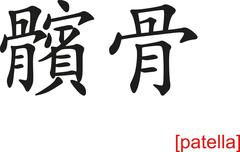 Chinese Sign for patella - stock illustration