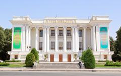 opera and ballet theatre s. aini, dushanbe, tajikistan - stock photo
