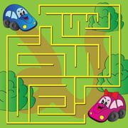 Vector maze game Stock Illustration