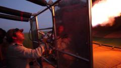 HOT AIR BALLOON SUNRISE SERENGETI NATIONAL PARK AFRICA Stock Footage