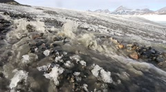 Melting glacier - Arctic, Spitsbergen, Svalbard Stock Footage