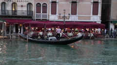 Romantic Hotel Marconi and its docks in Venice Stock Footage