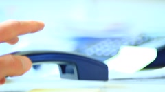 Nervous hand in the office - stock footage