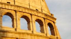Golden light fades on Colosseum timelapse 4K Stock Footage