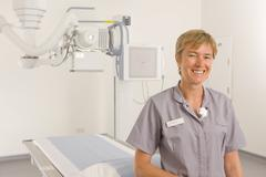 radiologist standing in radiology department - stock photo