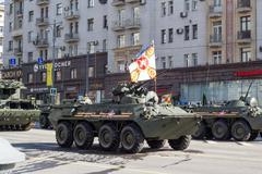 russian army parade - stock photo