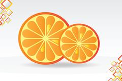Juicy orange background Stock Illustration