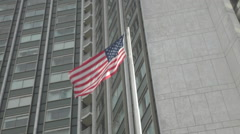 American Flag Blowing in Wind Stock Footage