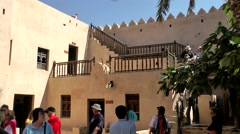 Salalah Arabia Orient Oman sultanate 021 inner courtyard of Taqa castle Stock Footage