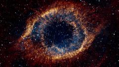 Flying Into Eye Galaxy Stock Footage