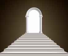 Staircase and arch Stock Illustration