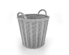 Empty Laundry Basket On White Background Stock Illustration