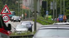 4K HD Munich Traffic Autobahn Motorway  Expressway to Stuttgart Lindau Germany Stock Footage